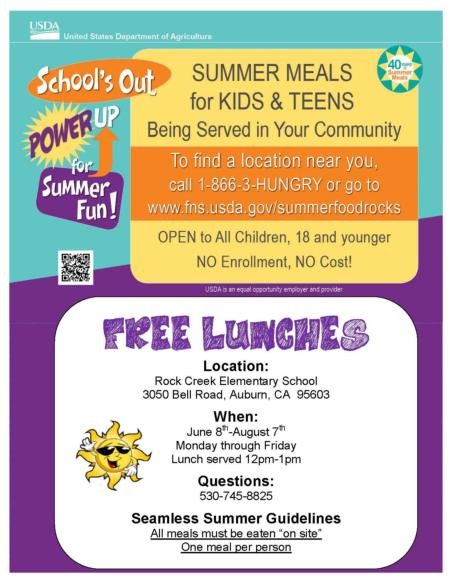 Summer Meals Flyer 2015 - English